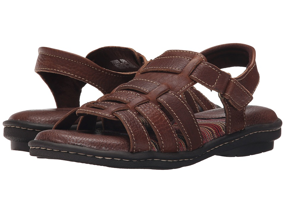 Minnetonka - Juniper (Brown Leather) Women's Sandals