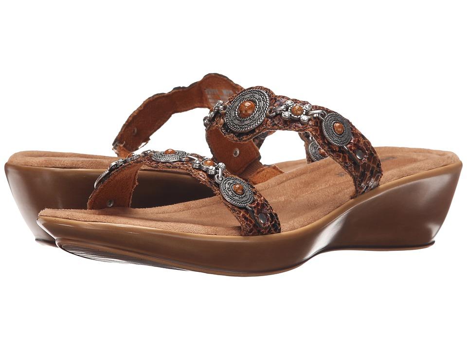 Minnetonka - Boca Slide II (Whiskey Python Print Man-Made Upper) Women's Sandals
