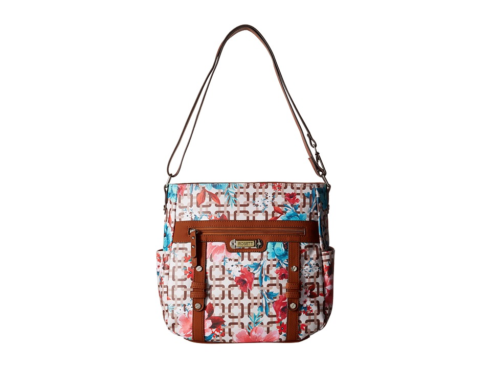 Rosetti - Let's Face It Convertible Hobo (Curious Floral) Cross Body Handbags
