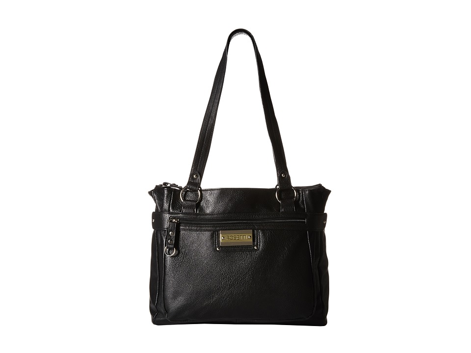 Rosetti - Simone Double Handle Purse (Black) Shoulder Handbags
