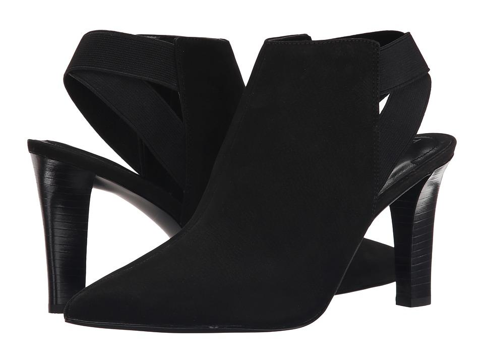 Tahari - Kicks (Black Leather/Elastic) High Heels