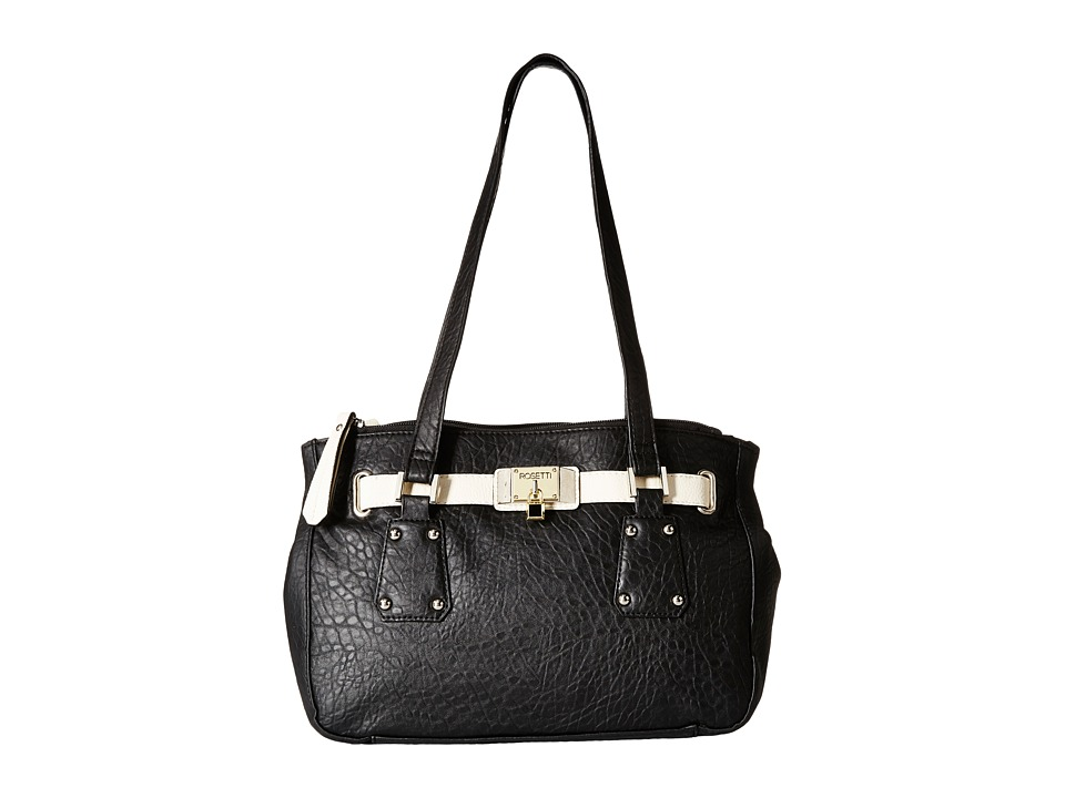 Rosetti - Arley Satchel (Black/Buttermilk) Satchel Handbags