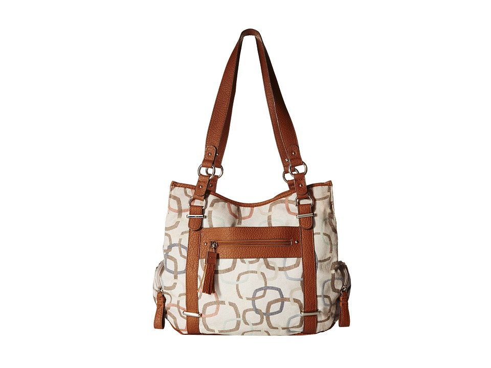 Rosetti - At First Glance Four Poster (Sandstone Multi Print) Shoulder Handbags