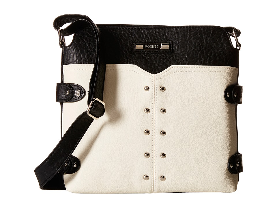 Rosetti - Annette Mid Crossbody (Black/Buttermilk) Cross Body Handbags