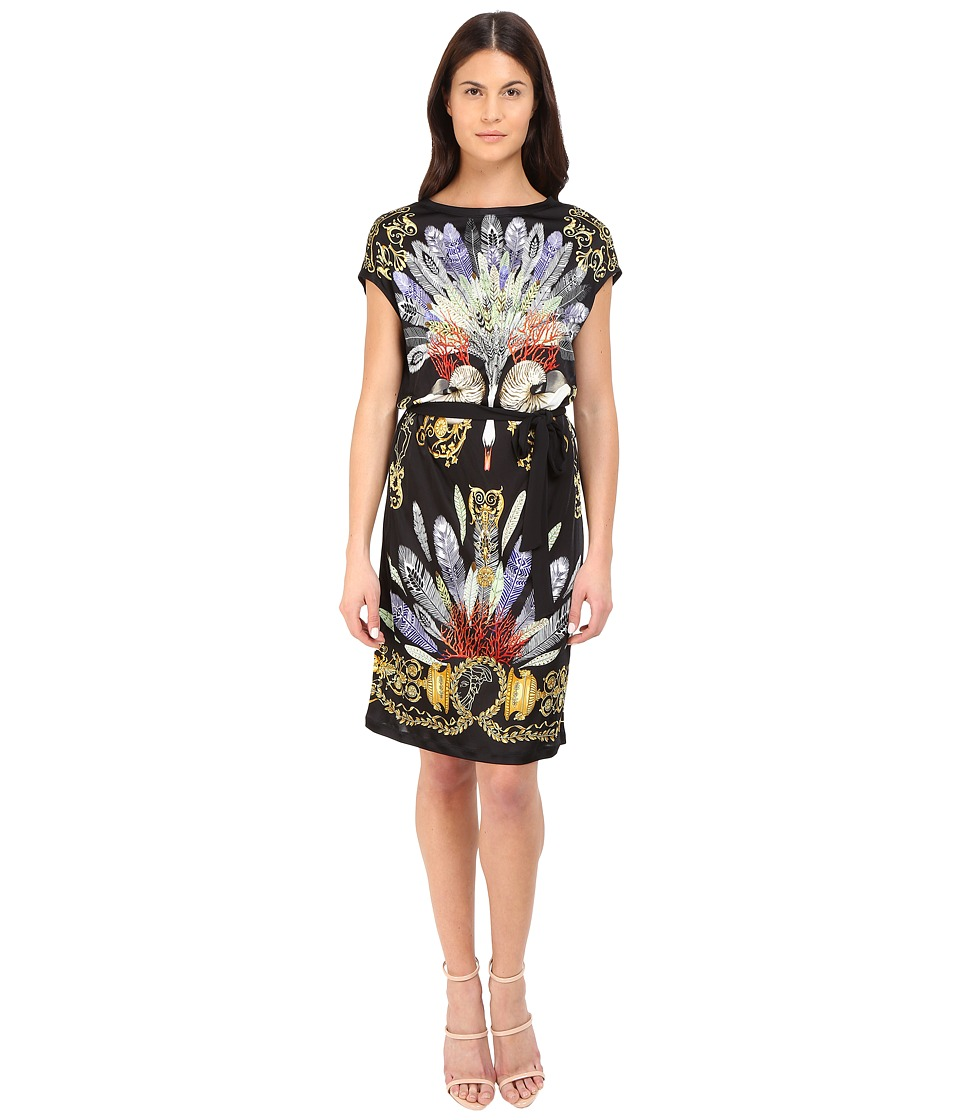 Versace Collection - Black Swan Printed Tubino (Multi) Women's Dress