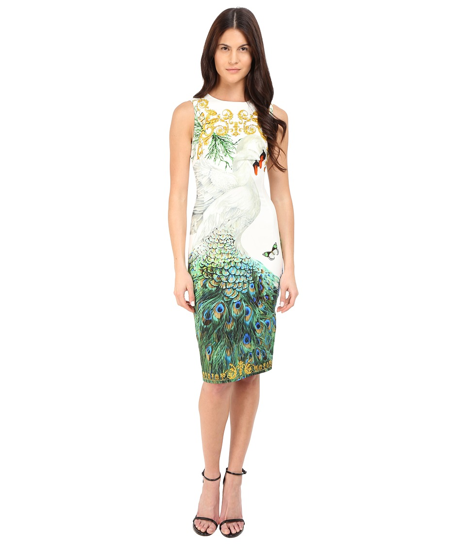 Versace Collection - Swan Placed Print Tubino Dress (Multi) Women's Dress