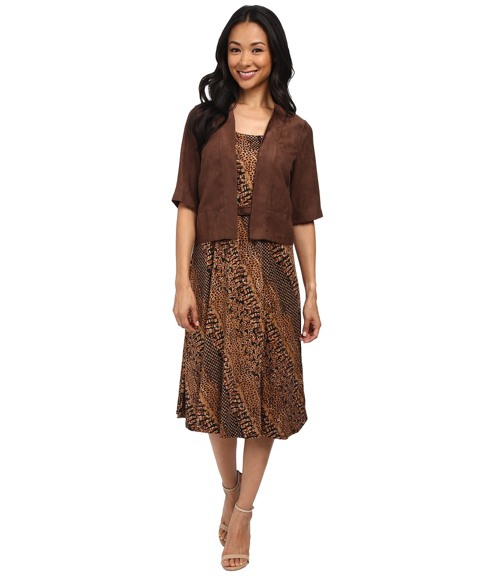 rsvp - Teramo Dress (Brown) Women's Dress