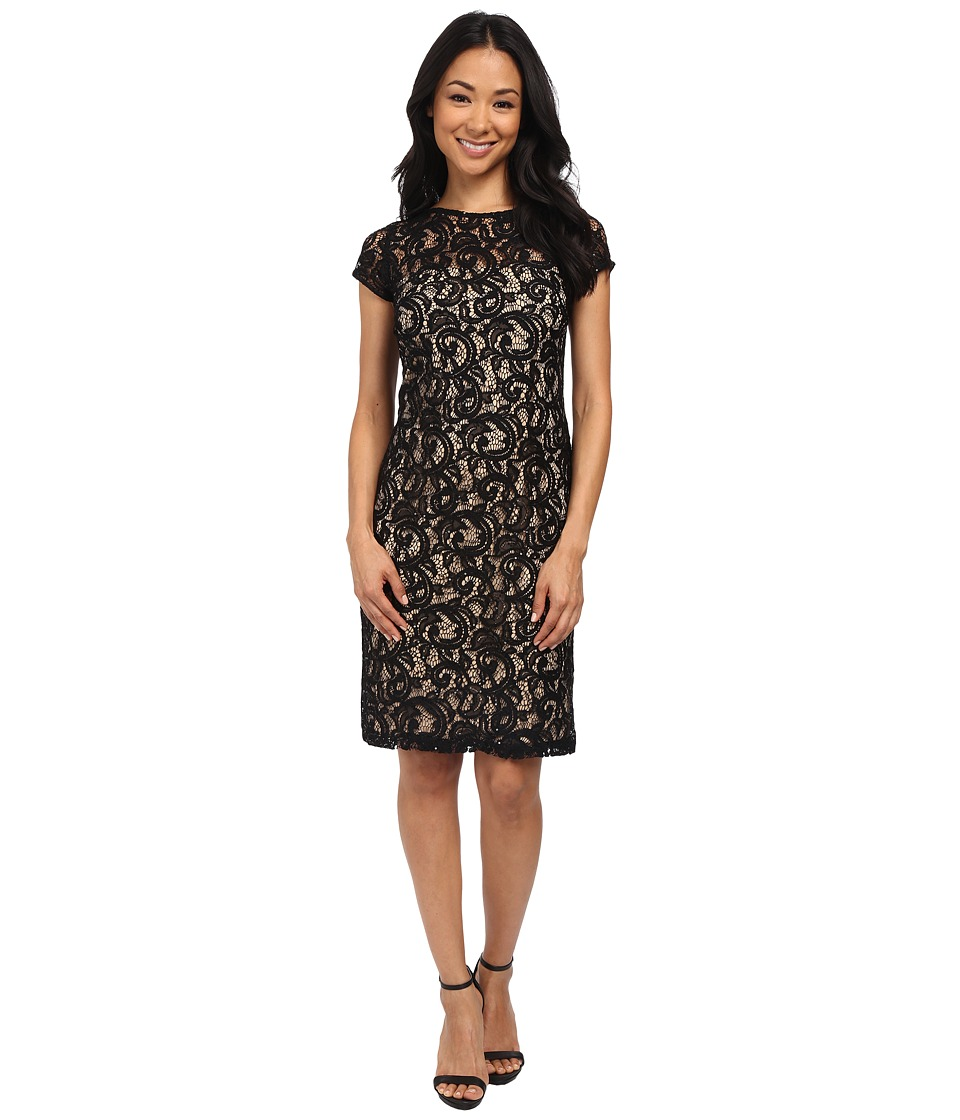 rsvp - Trieste Dress (Black/Nude) Women's Dress