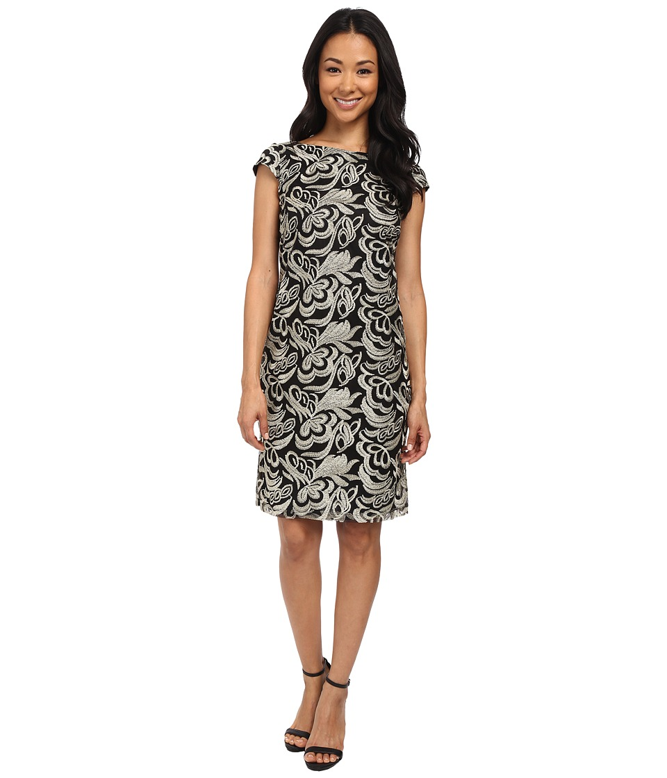 rsvp - Perugia Dress (Black/Gold) Women's Dress