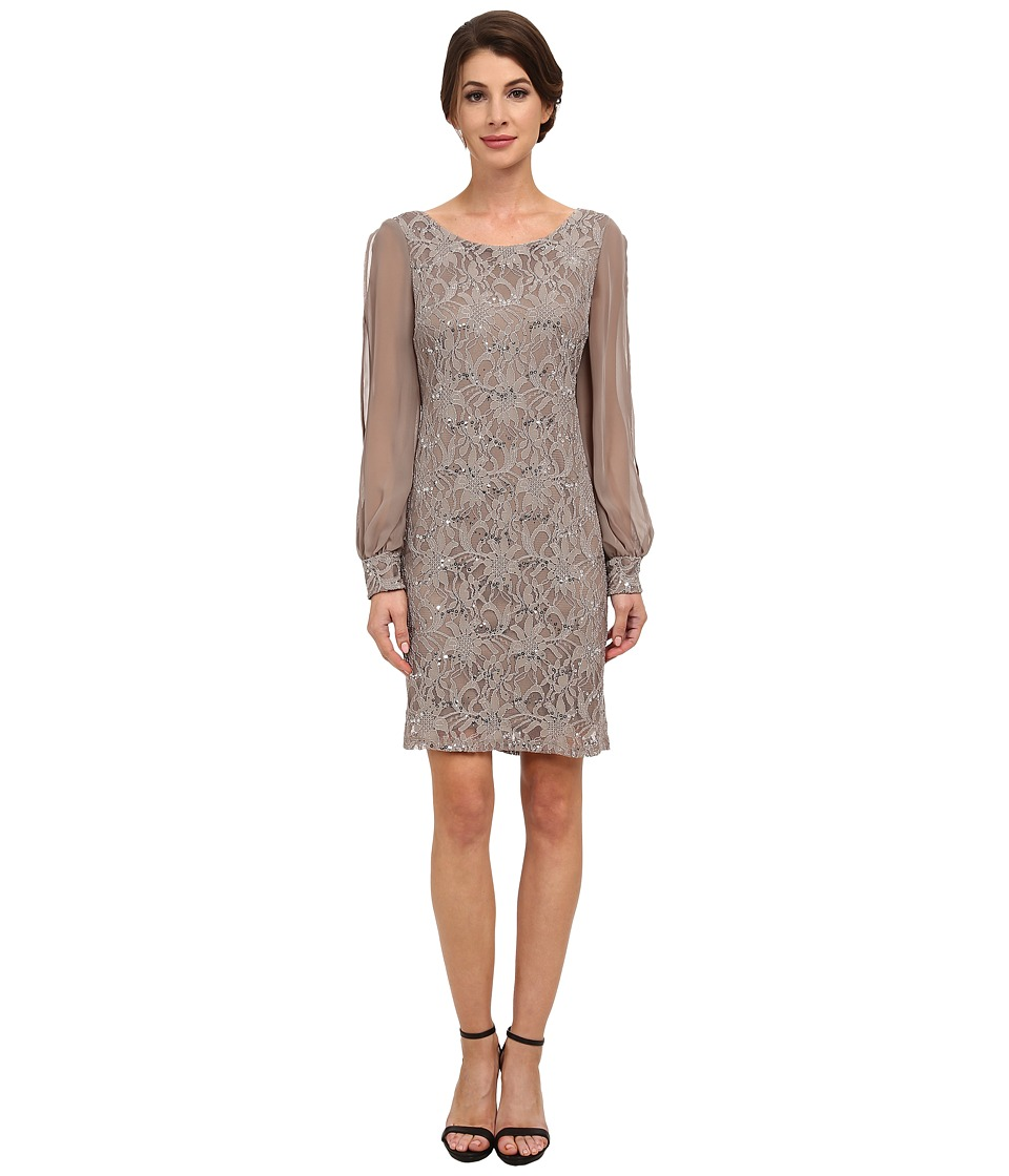 rsvp - Parma Dress (Taupe) Women's Dress