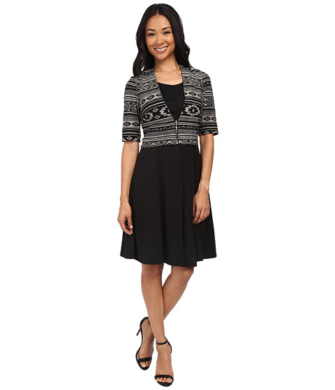 rsvp - Siena Dress (Black/Tan) Women's Dress