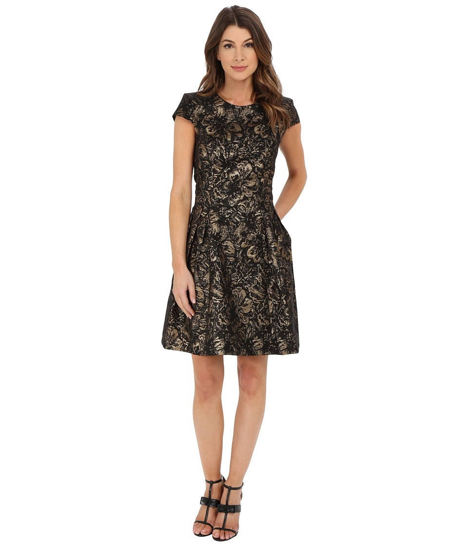 rsvp - Calais Dress (Black/Gold) Women's Dress