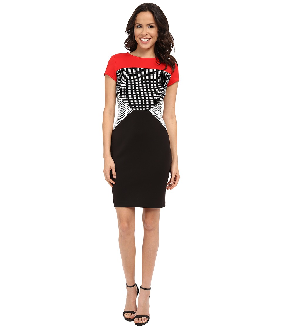 rsvp - Amiens Dress (Very Red/Black/Ivory) Women's Dress