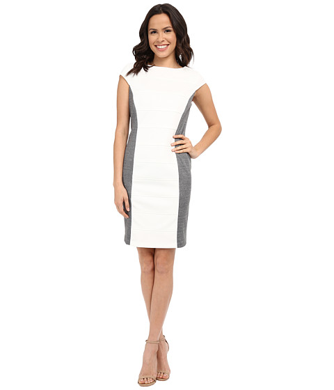 rsvp - Reims Dress (Ivory/Heather Grey) Women's Dress