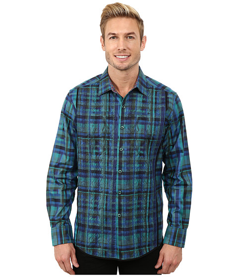 Robert Graham - Galway Long Sleeve Woven Shirt (Teal) Men's Clothing