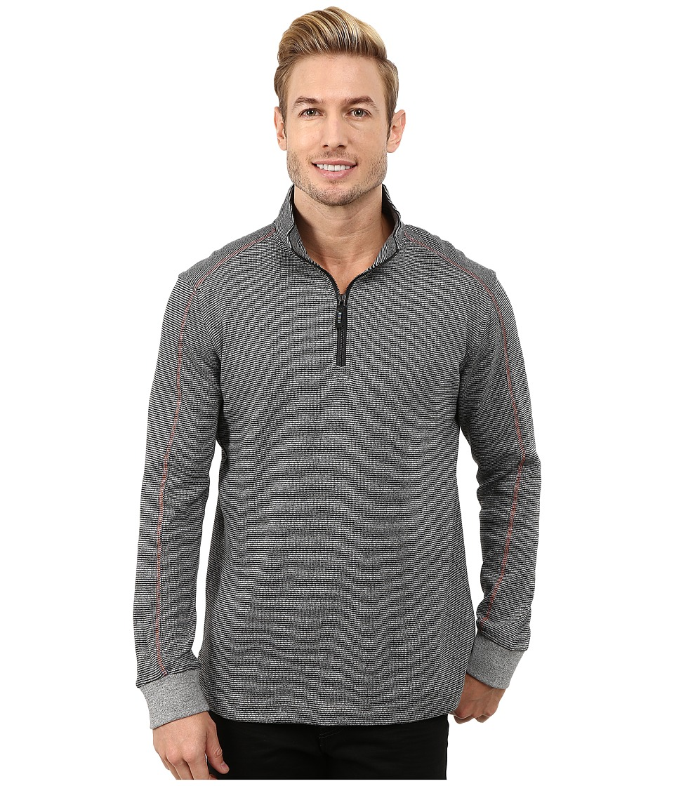 Robert Graham - Comstock Long Sleeve Knit Pullover (Heather Grey) Men