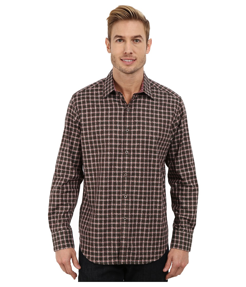 Robert Graham - Waterford Long Sleeve Woven Shirt (Moss) Men's Long Sleeve Button Up