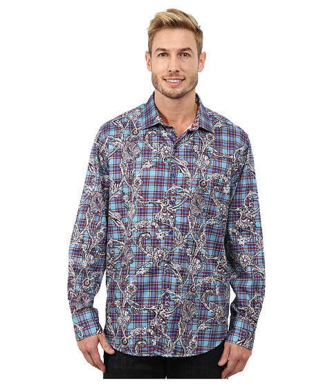 Robert Graham - Irish Guards Long Sleeve Woven Shirt (Teal) Men's Long Sleeve Button Up