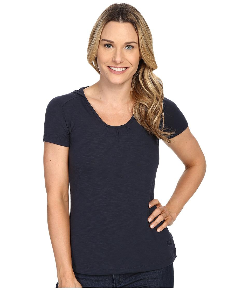 Jack Wolfskin - Travel Hoodie T-Shirt (Night Blue) Women's T Shirt