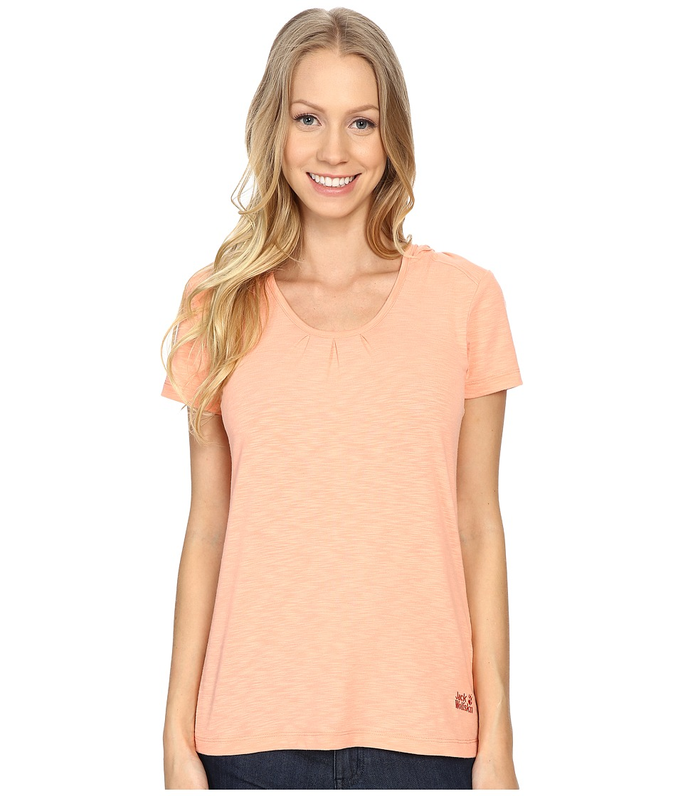 Jack Wolfskin - Travel Hoodie T-Shirt (Apricot Pastel) Women's T Shirt