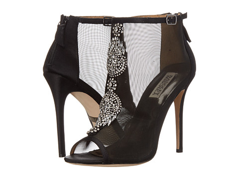 Badgley Mischka - Rana (Black/Black Satin/Mesh) High Heels