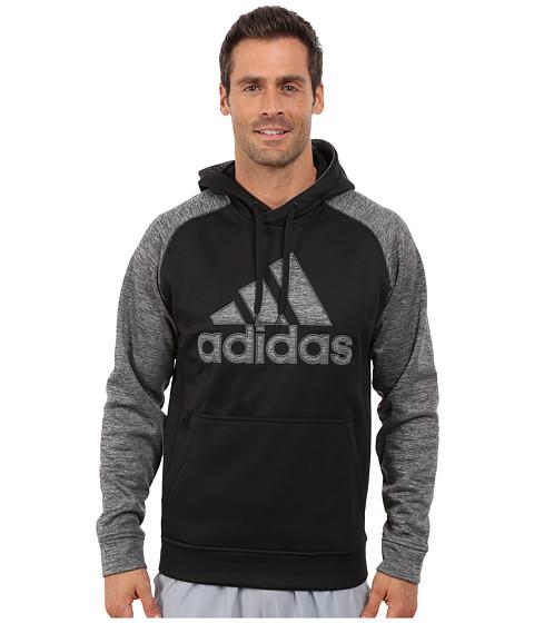 adidas - Tech Fleece Pullover Hoodie (Black/Dark Grey Heather) Men's Sweatshirt