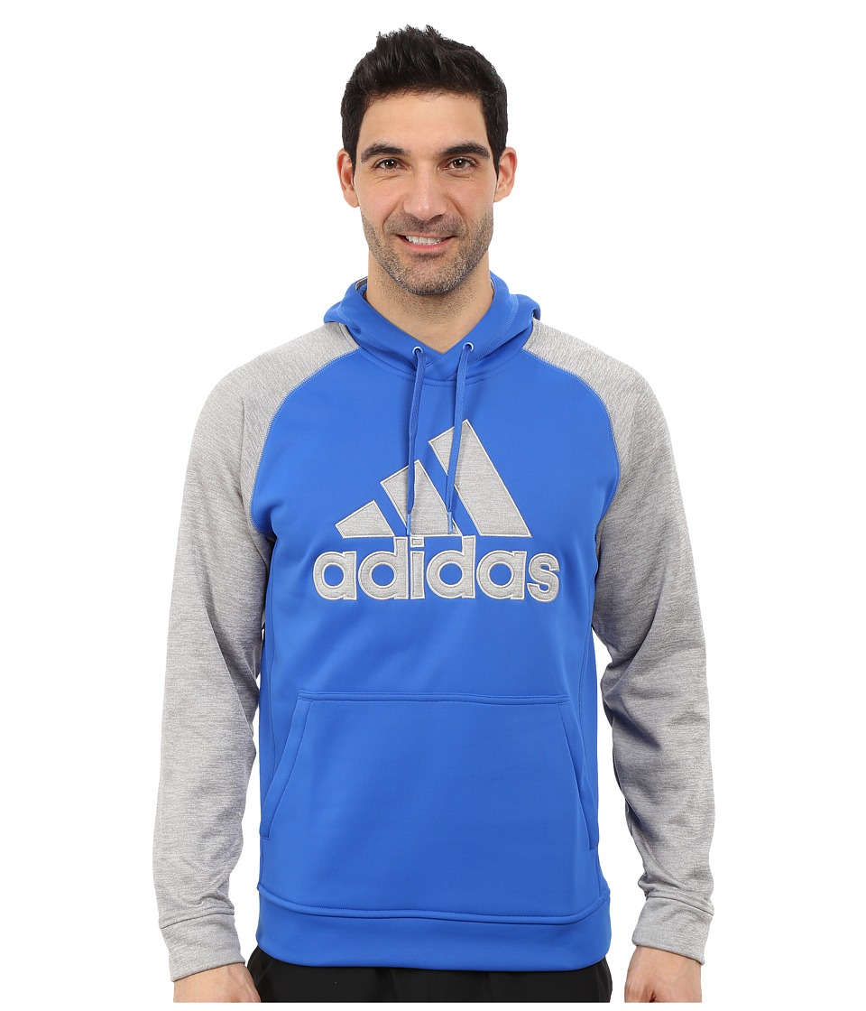 adidas - Tech Fleece Pullover Hoodie (Blue/Medium Grey Heather) Men's Sweatshirt
