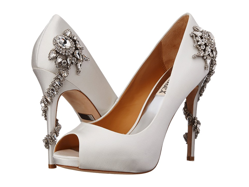 Badgley Mischka - Royal (White Satin) High Heels