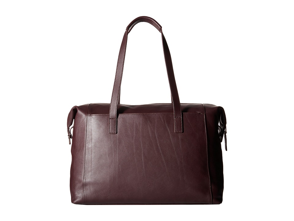 KNOMO London - Curzon Laptop Leather Shoulder Tote (Espresso) Tote Handbags