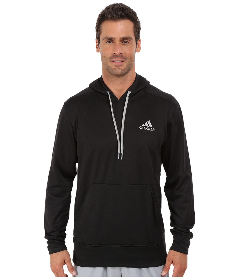 adidas - Go-To Pullover Hoodie (Black/Light Onix) Men's Sweatshirt
