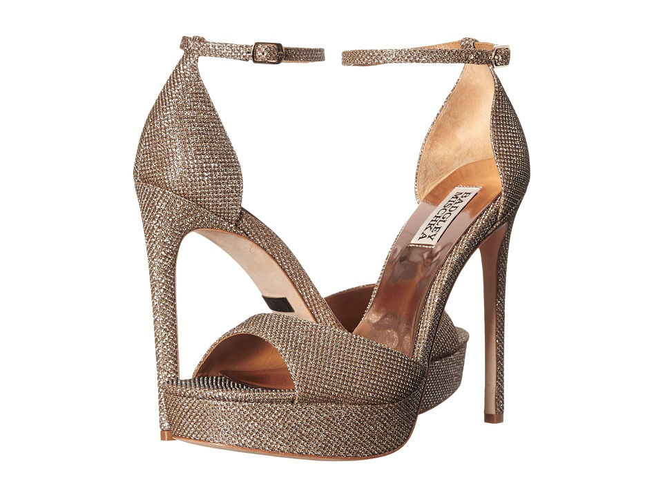 Badgley Mischka Retro (Platino Diamond Drill Fabric) High Heels