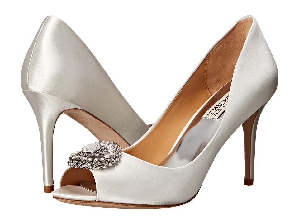 Badgley Mischka - Roanna (White Satin) High Heels