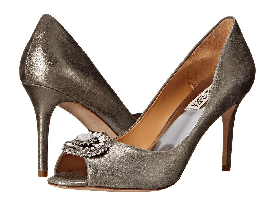 Badgley Mischka - Roanna II (Pewter Metallic Suede) High Heels