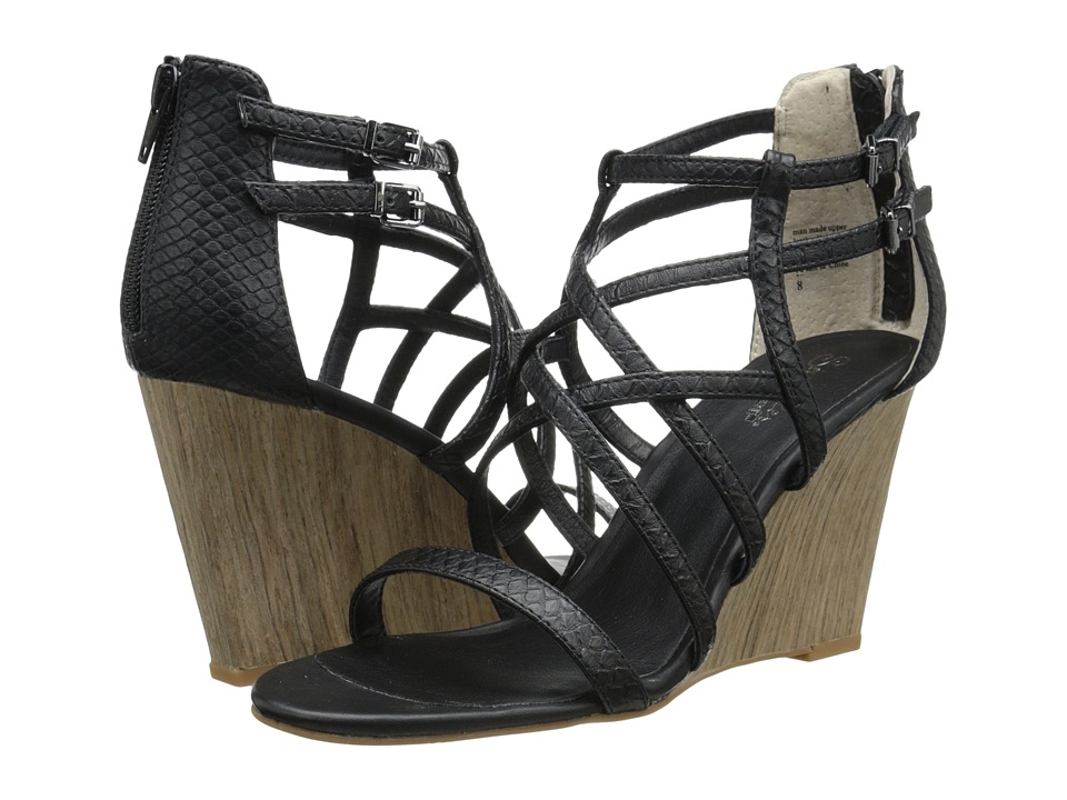 Seychelles - Illustrious (Black Exotic) Women's Wedge Shoes