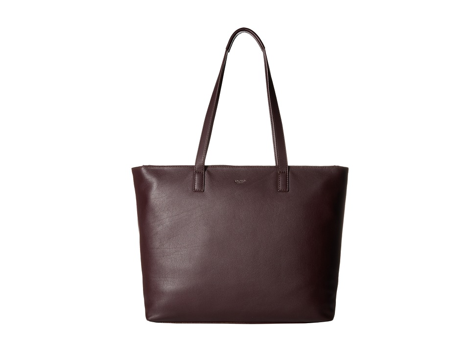 KNOMO London - Maddox Laptop Leather Zip Tote (Espresso) Tote Handbags