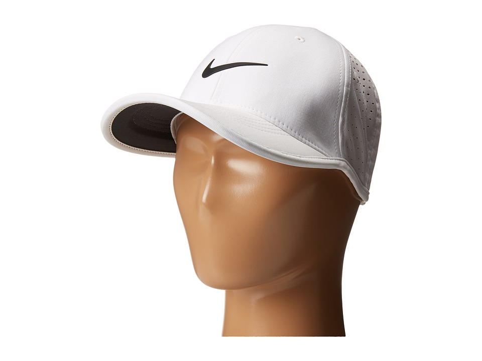 Nike Kids - Ultralight Perf Cap (Little Kids/Big Kids) (White/Black) Casual Visor