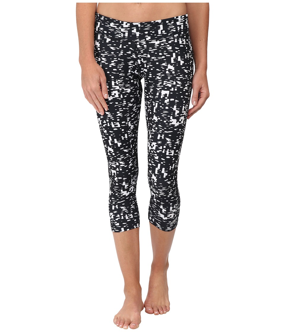 adidas - Ultimate 3/4 Tights Metro Static Print (Black/White Print) Women's Clothing