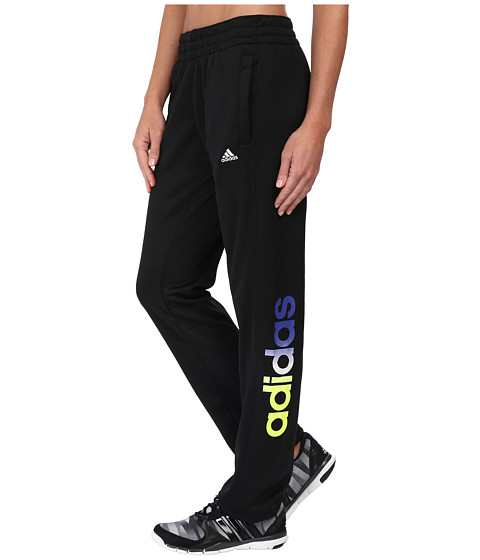 adidas - Ultimate Fleece Adjustable Logo Pants (Black) Women's Casual Pants