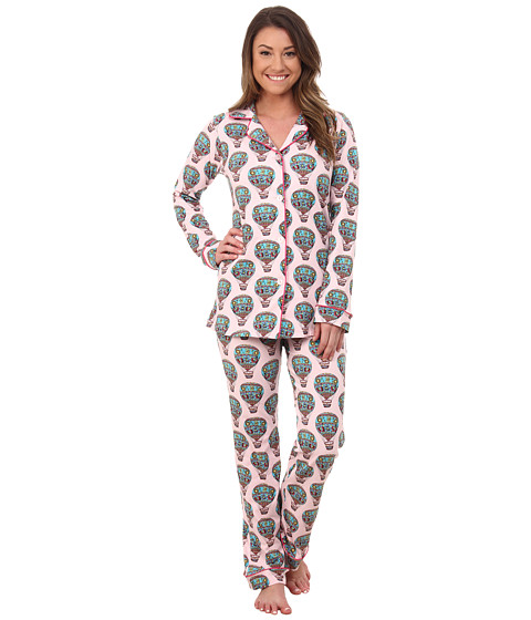 BedHead - Classic Stretch PJ Set (Multi Hot Air Balloon) Women's Pajama Sets