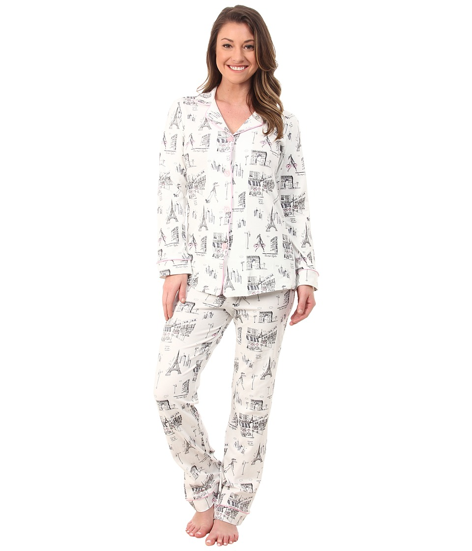 BedHead - Classic Stretch PJ Set (Cafe Du Paris) Women's Pajama Sets