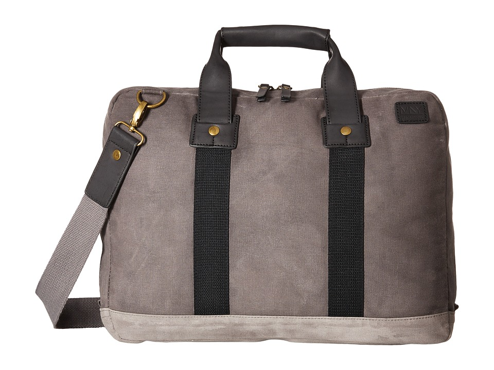 Marc New York by Andrew Marc - Fairfield Top Handle Brief (Charcoal) Briefcase Bags