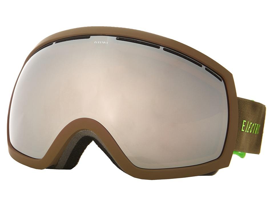 Electric Eyewear - EG2 Olive/Slime +Bonus Lens (Bronze/Silver Chrome) Snow Goggles