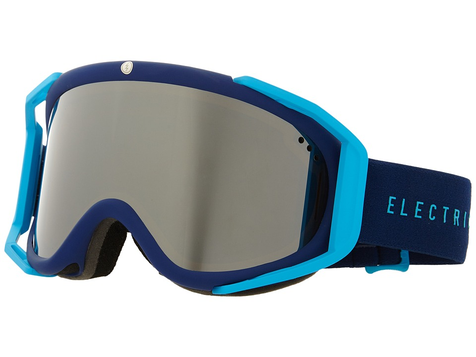 Electric Eyewear - RIG Navy/Cyan +Bonus Lens (Bronze/Silver Chrome) Snow Goggles