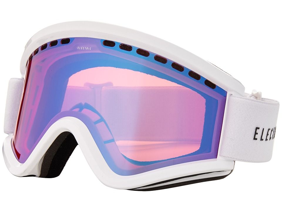 Electric Eyewear - EGV Gloss White +Bonus Lens (Rose/Blue Chrome) Snow Goggles