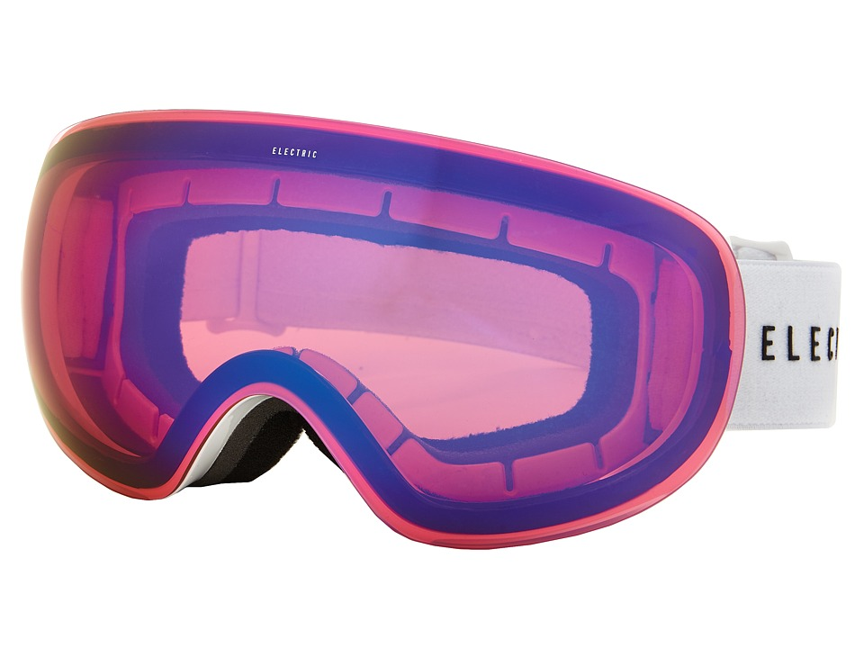 Electric Eyewear - EG3.5 Gloss White +Bonus Lens (Rose/Blue Chrome) Snow Goggles
