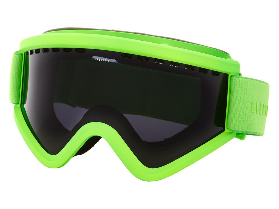 Electric Eyewear - EGV Solid Slime +Bonus Lens (Jet Black) Snow Goggles