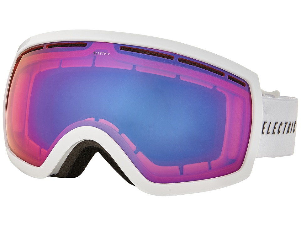 Electric Eyewear - EG2.5 Gloss White +Bonus Lens (Rose/Blue Chrome) Snow Goggles