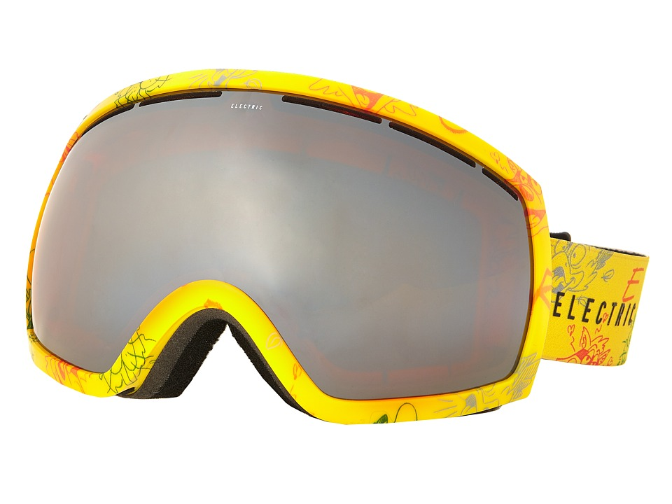 Electric Eyewear - EG2 Cartoon Yellow +Bonus Lens (Bronze/Silver Chrome) Snow Goggles