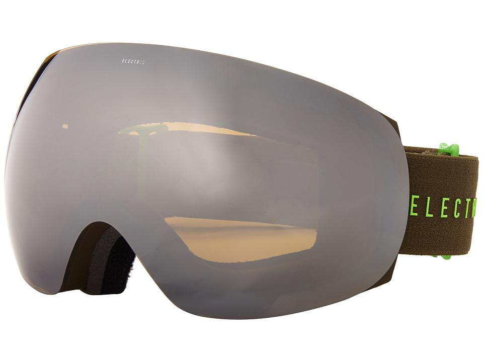Electric Eyewear - EG3 Olive/Slime +Bonus Lens (Bronze/Silver Chrome) Snow Goggles