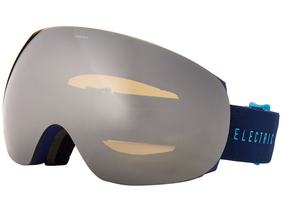Electric Eyewear - EG3 Navy/Cyan +Bonus Lens (Bronze/Silver Chrome) Snow Goggles
